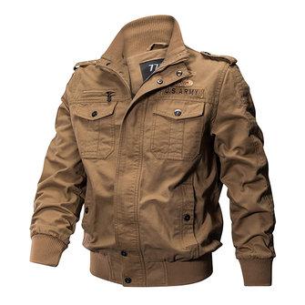 가을 야외 전술 워시 면화 플러스 크기 XS - 4XL 남자에 대한 Epualet 군사 재킷