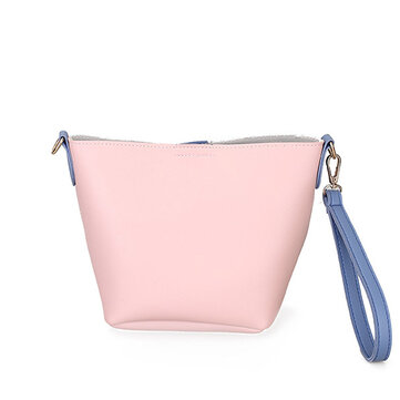 Buy Women PU Leather Casual Daily Color Block Handbag Crossbody Bag for $12.99 in Banggood store