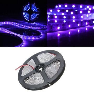 0.5/1/2/3/4/5M 3528 UV Ultraviolet Purple Non-Waterproof Strip Lamp Black Light 12V 1070204