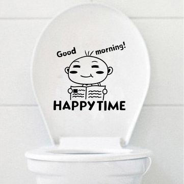 ليتل بوي المرحاض غطاء مقعد ملصق الحمام كلوسيتول ماء جدار صائق ديكور المنزل
