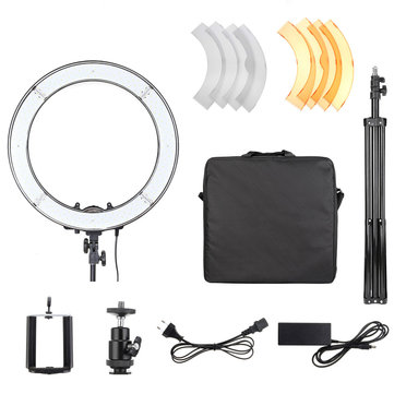 18 Inch 5500K 55W Dimmable Photo Fluorescent LED Ring Light Kit with Tripod Stand