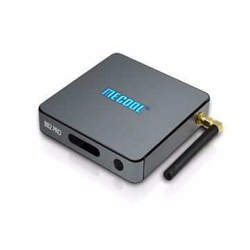 MECOOL BB2 PRO Amlogic S912 3G DDR4 RAM 16G eMMC ROM Octa Core 2.4G 5.0G Dual Band AC WiFi 1000M LAN Android 6.0 4K 60FPS H.265 HEVC VP9 HDR10 TV BOX