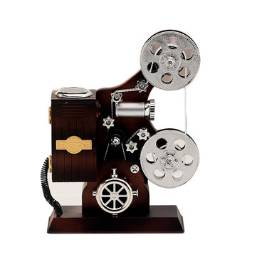 Movie Film Projector Music Box Trinket Package Case for Gift Home Decoration