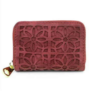 Elegant Hollow Out Multi-slots Card Holder Small Wallet Purse For Women