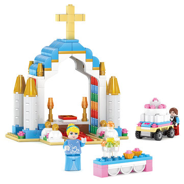 Kazi Cinderella Church Building Blokken Sets Speelgoed Educatieve Cadeau 98702 Fidget Toys 243pcs