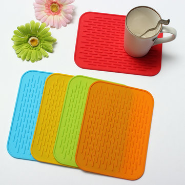 Non-slip Silicone High Temperature Insulation Pad Tableware Placemat Coaster Cup Mat 956541