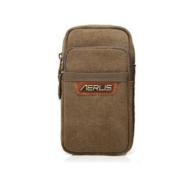 إيرليس الرجال النساء قماش الرجعية 6 بوصة الهاتف المحمولة الخصر حقيبة صغيرة
