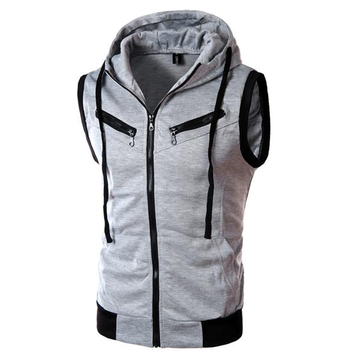 Buy Summer Mens Casual Vest Fashion Sleeveless Vest Hooded for $20.66 in Banggood store