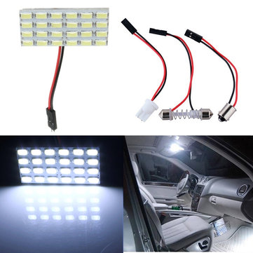 Multiple Connector 12V 5730/5630 24SMD LED Panel Board Car Interior Dome Reading Lamp Light