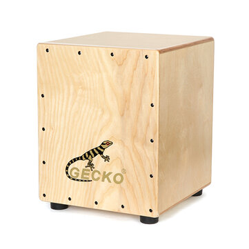 Gecko CM060 Manchurian Ash Wood Cajon Drum with Bag