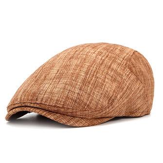 Cappello casual del cotone del cotone del manicotto del cappello del cabbie del giornale regolabile del signore