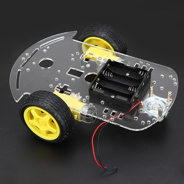 2WD Smart Car Chassis Tracing Car With Encoder Battery Box For Arduino