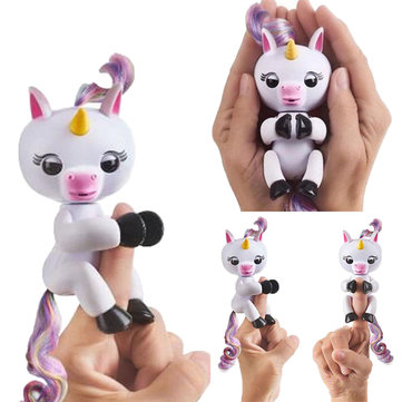 Buy Cute Finger Lings Interactive Baby Unicorn Smart Electronic Pet For Kids Gift Induction Toys for $10.19 in Banggood store