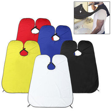 Men's Beard Trimming Catcher Waterproof Hairdressing Robes Whiskers Cape Cloth Haircut Adult