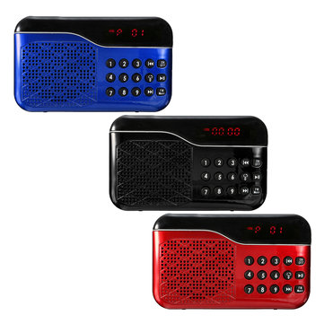 L66 LED Display FM Radio Receiver MP3 Speaker Music Player Support TF Card