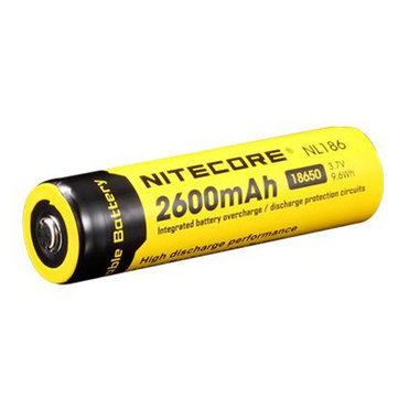 Nitecore NL186 18650 2600mAh 3.7V Li-ion Rechargeable Battery