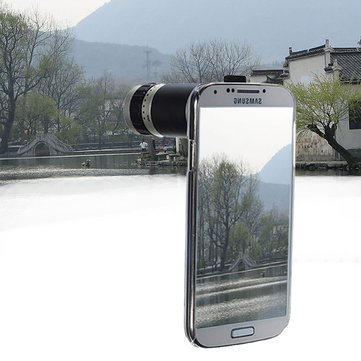 8X zoom telefono caso teleobiettivo della macchina fotografica per i9500 Samsung Galaxy S4