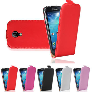 Flip-Open Leather Case For Samsung Galaxy S4 Mini i9190