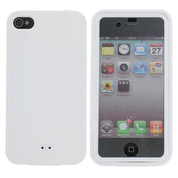 TPU Protective Case With Built In Screen Protector For iPhone 4 4S
