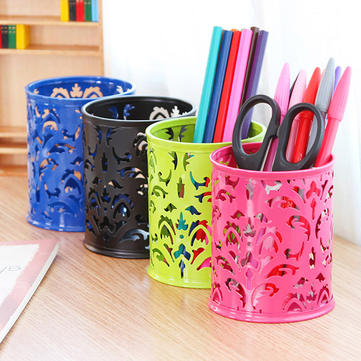 Stationery Mesh Decorative Cutout Pattern Pen Storage Bucket K1472