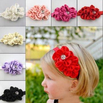 Kids Girl Baby Toddler Hair Headbrand Flower Bow Headwear Hat Hair Band