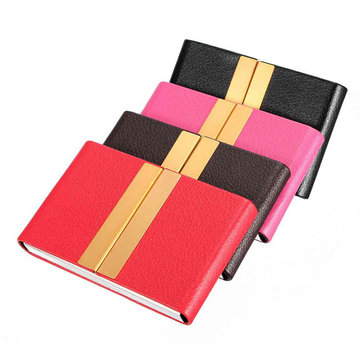 Outdoor Reizen Portable PU Leather Card Case Box