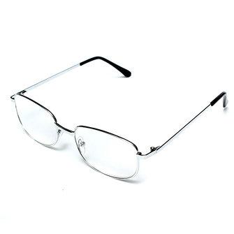 Men Women Light Resin Type Metal Frame Glasses
