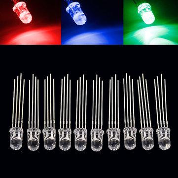 10 قطع 5 ملليمتر رغب ليد المشتركة الكاثود 4-بين ثلاثي اللون البعث الثنائيات f5