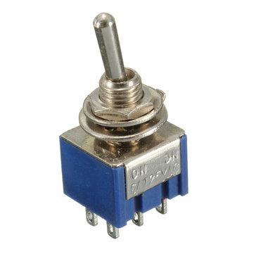 Doppio palo doppio tiro DPDT 2 modo mini interruttore a levetta 6 pin -on 6a 125v