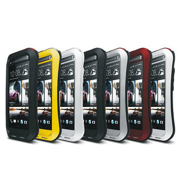 Piccolo caso shockproof antipolvere metallo impermeabile vita per t6 htc
