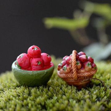 مصغرة الفواكه سلة الطحلب المشهد الصغير حديقة دي الديكور
