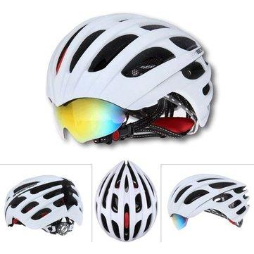 จักรยานเสือหมอบขี่จักรยานหมวกนิรภัยหมวกขี่จักรยาน MTB มี 3 Goggles