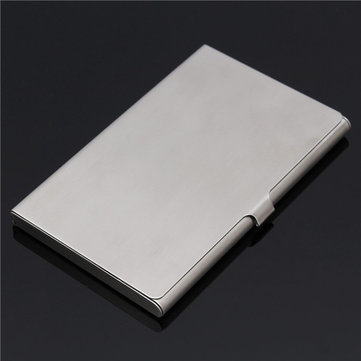 Stainless Steel Silver Aluminium Drawbench Surface Business Card Holder Case Cover