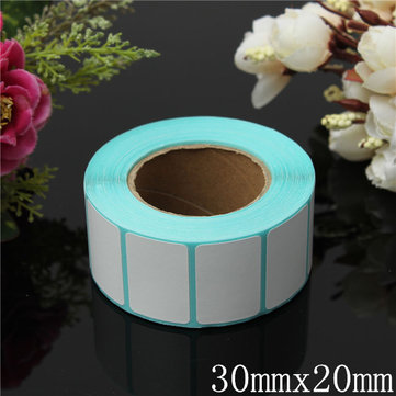 800PCS 30x20mm Printing Label Barcodes Thermal Adhesive Paper Sticker New