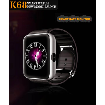 K68 Smart Watch 1.54ich G + F Scherm Bluetooth Met Hartslagmeter Voor IOS Android OS
