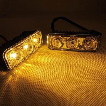 Nuove auto LED doppi colori bianco con la direzione giallo 3 luci diurne luci