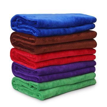 60x160cm pelúcia banho toalha praia espessada esporte rápido-secagem toalha de microfibra