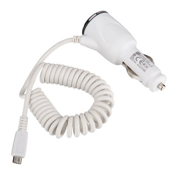 White Car Charger For HTC EVO 3D Inspire 4G Sensation XE Desire HD